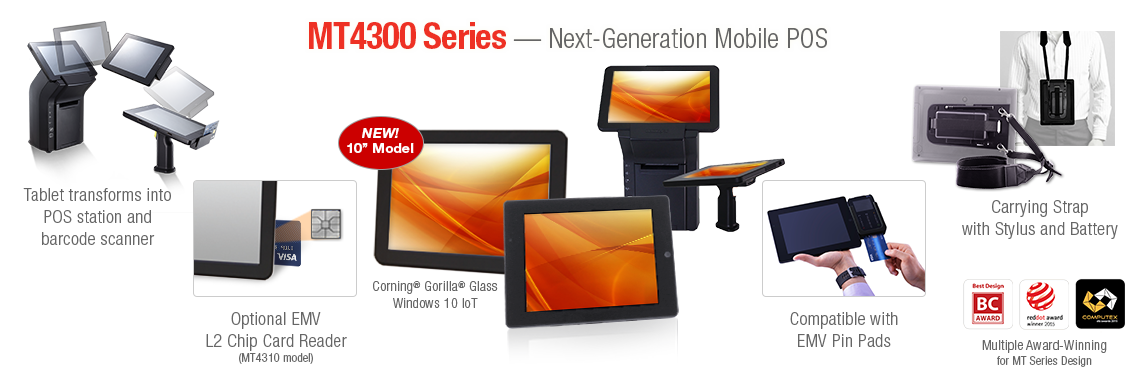 MT4300 Series - Next-Generation Mobile POS