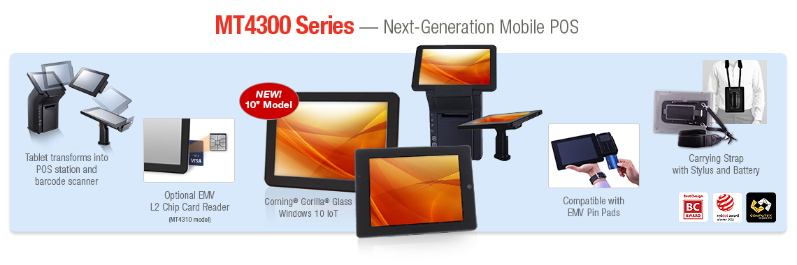 MT4300 Series - Next-Generation Mobile POS