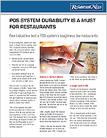 POS durability is a must for restaurants