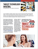 Tablet Technology In Retail for Improved Customer Experience