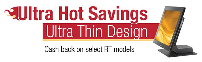 Posiflex Ultra Hot Savings on RT Series